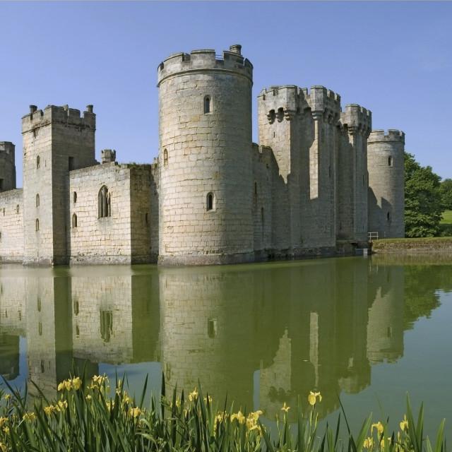 """Bodian Castle,Sussex"" stock image"