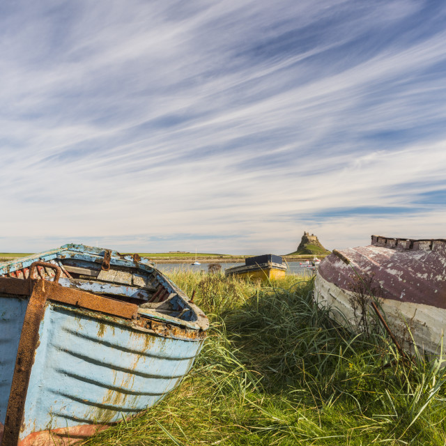 """Lindisfarne Harbour"" stock image"