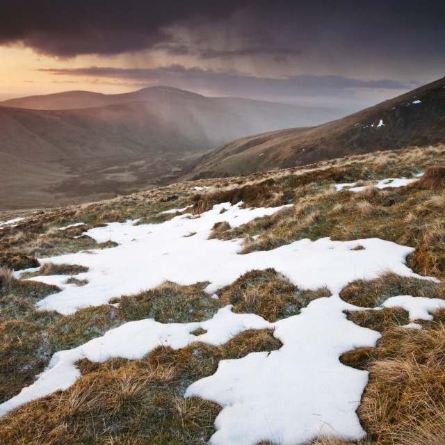 """College Valley - Cheviots"" stock image"