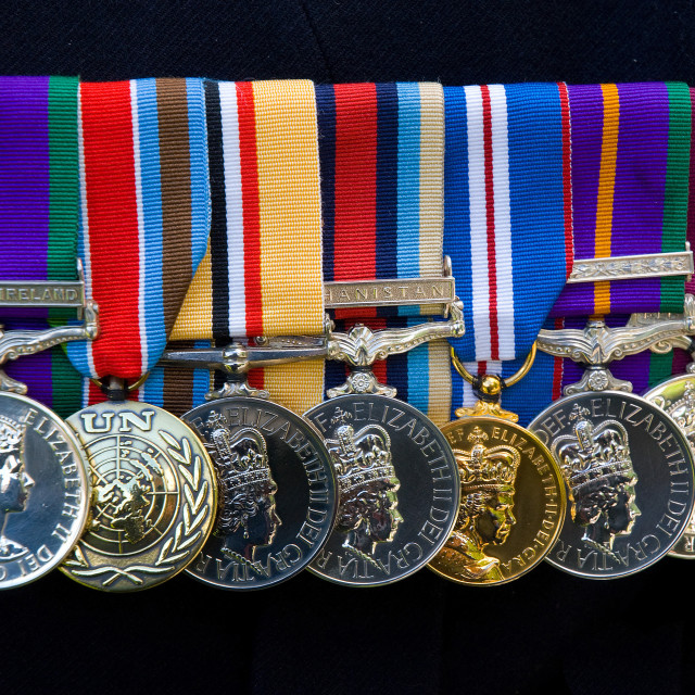 """""""Campaign Medals"""" stock image"""