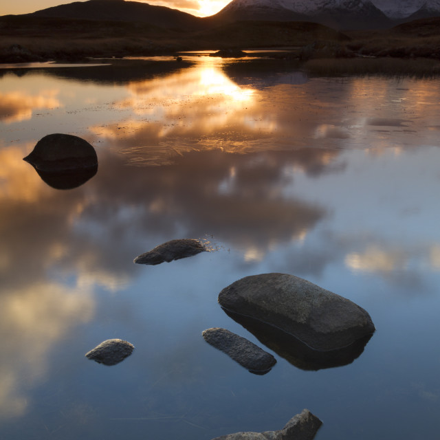 """""""Highland sunset"""" stock image"""