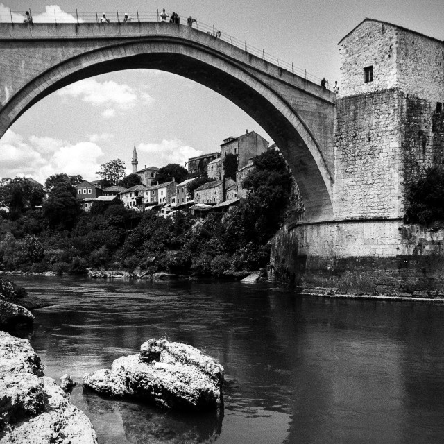 """The Bridge, Mostar"" stock image"