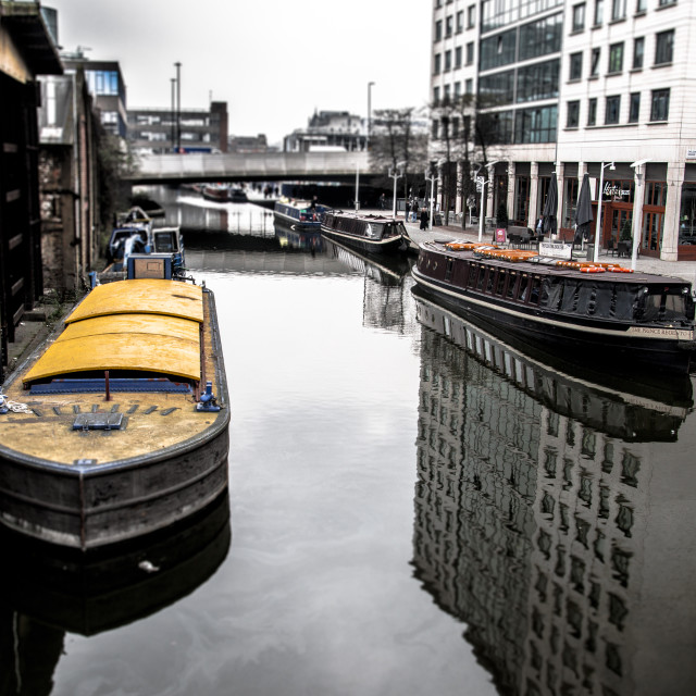 """""""On the Canal"""" stock image"""
