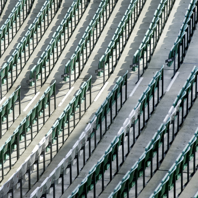 """Empty seating"" stock image"