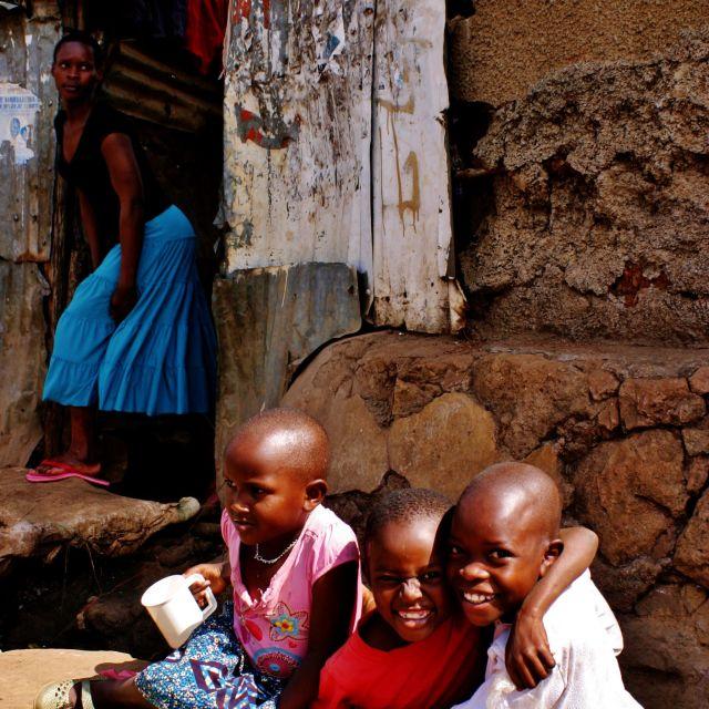 """Children of Kibera"" stock image"