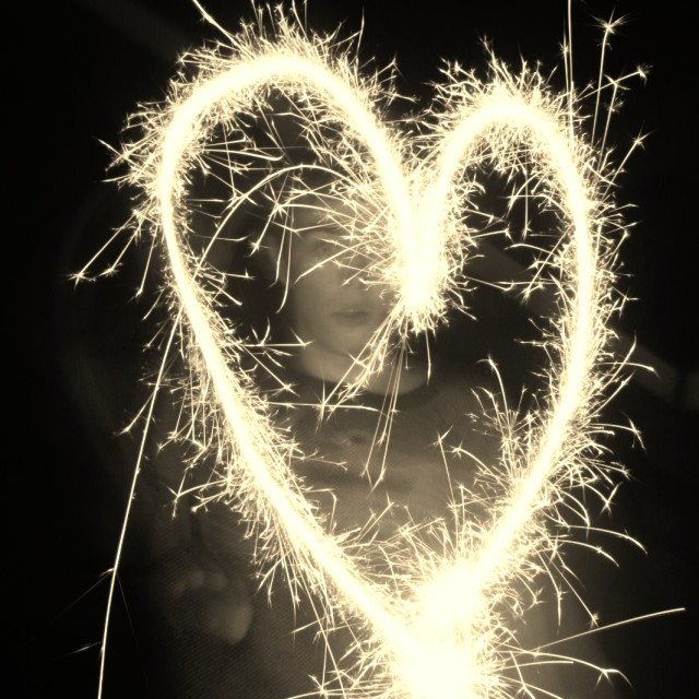 """""""Sparkling Heart"""" stock image"""