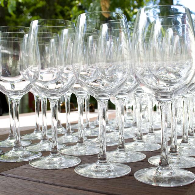 """Wine Glasses"" stock image"