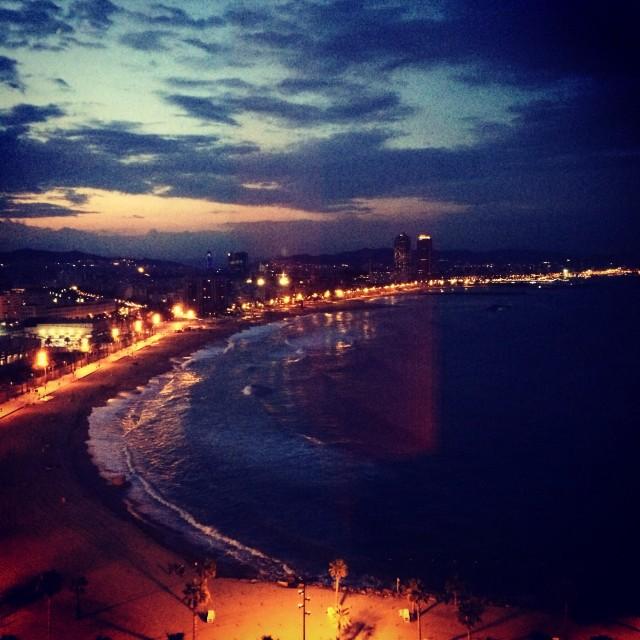 """Barcelona sunset"" stock image"