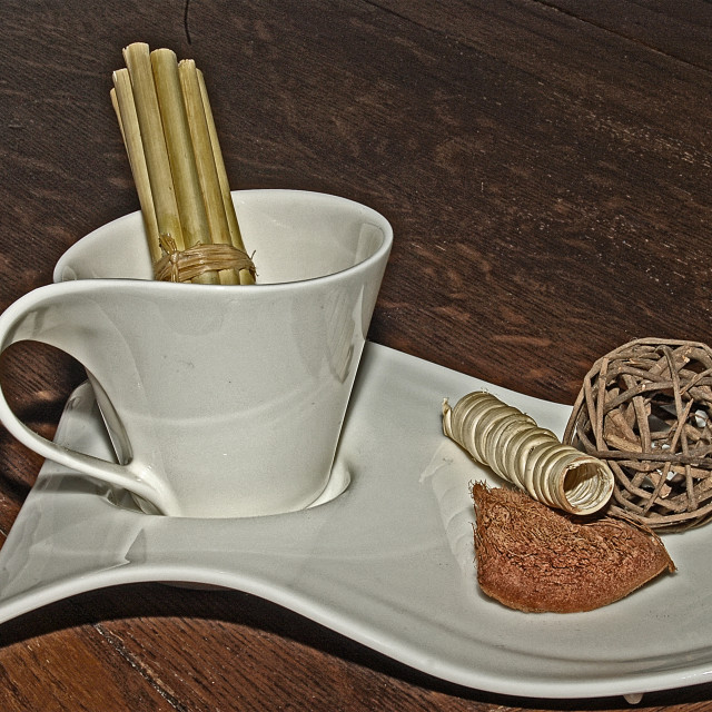 """""""Cup & Saucer"""" stock image"""