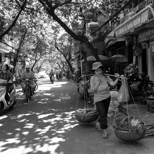 """Street life , Han oi style"" stock image"