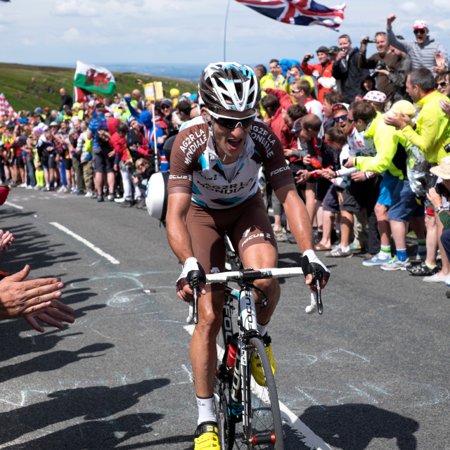 """Tour De France stage 2: Holme Moss ."" stock image"