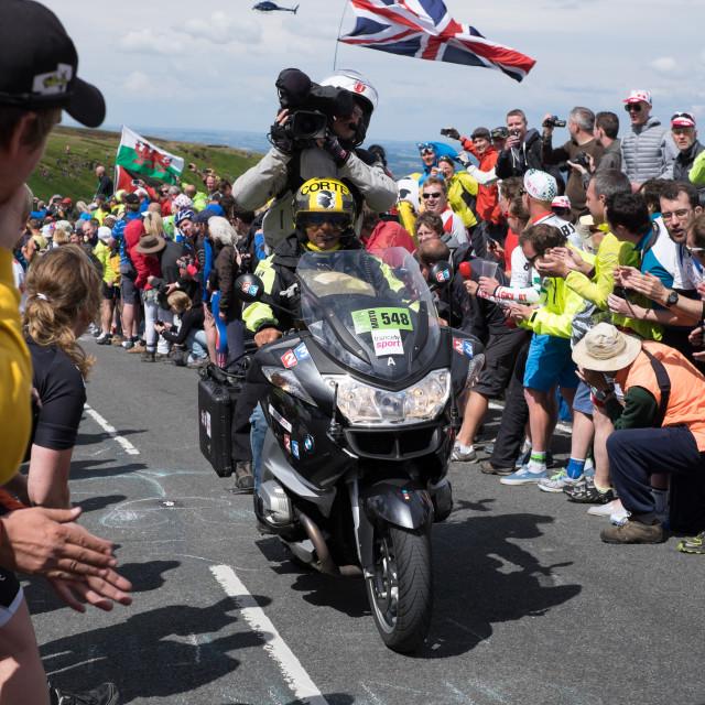 """""""Tour De France Yorkshire 2014 ."""" stock image"""
