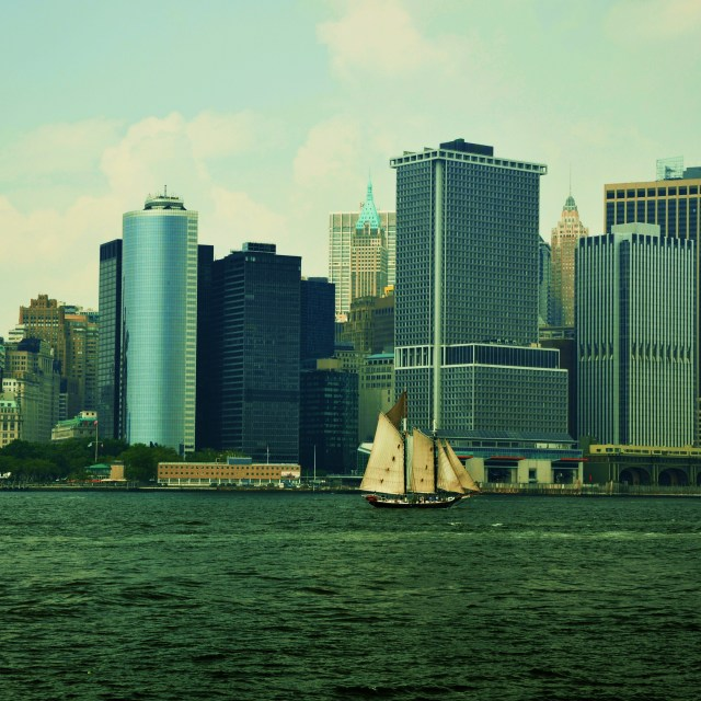 """Clipper on NY Habour"" stock image"