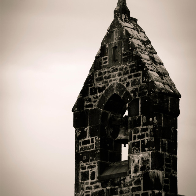 """""""Bell Tower and Cross"""" stock image"""