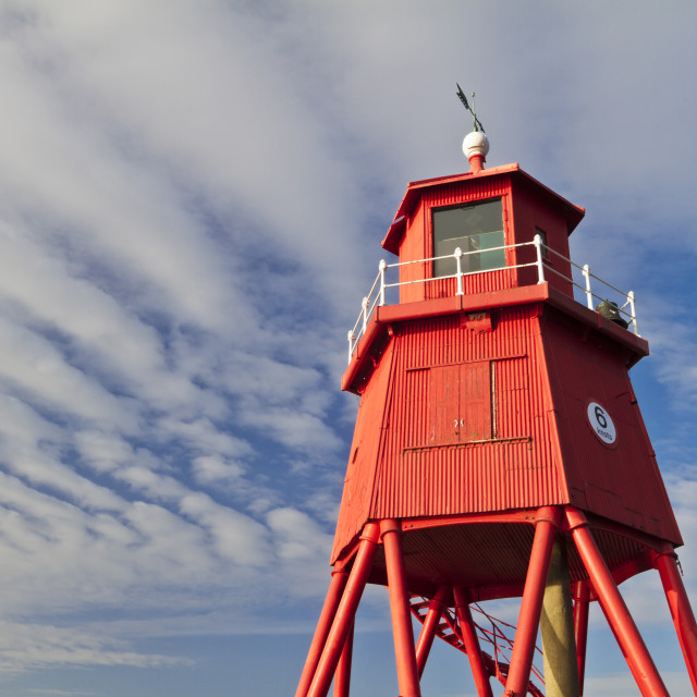 """Red Lighthouse"" stock image"