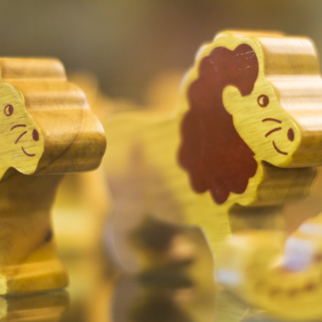 """""""Toy Lions"""" stock image"""