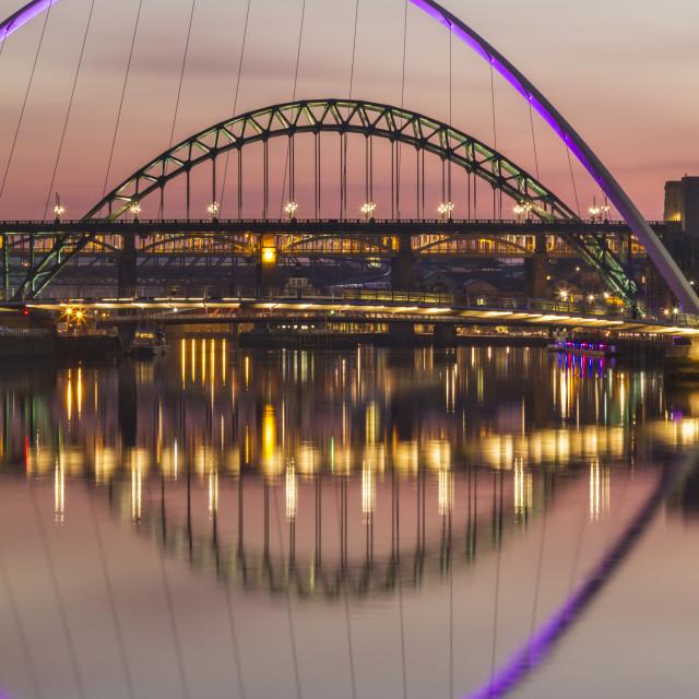 """Bridges over the Tyne"" stock image"