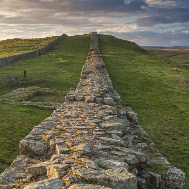 """Hadrian's Wall - Caw Gap"" stock image"