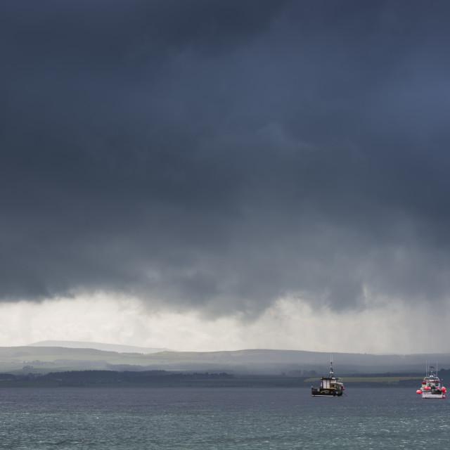 """North Sea Storm Light"" stock image"
