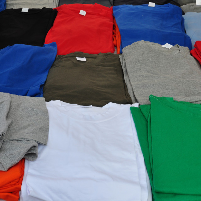 """short sleeve t-shirts"" stock image"