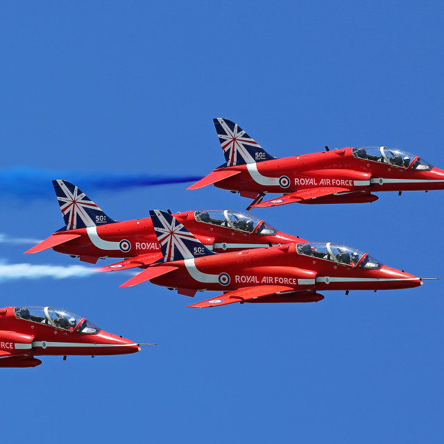 """Red Arrows Southsea D-Day Airshow"" stock image"