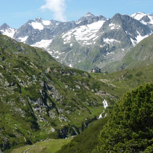 """Austrian Mountan Hutte"" stock image"