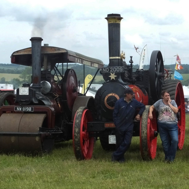 """Hollowell steam fair"" stock image"
