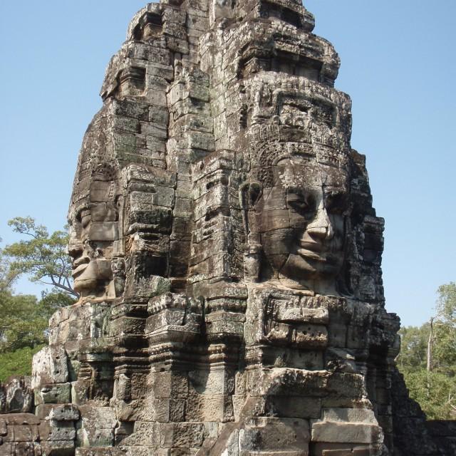 """Cambodia Bayon Temple"" stock image"