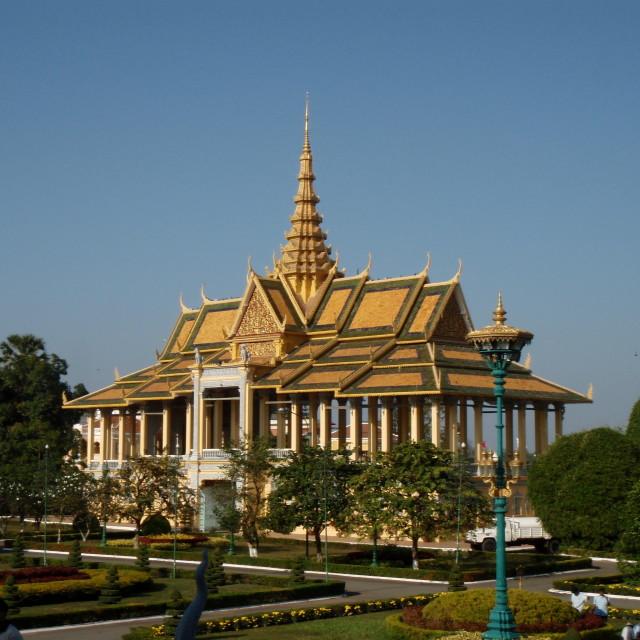 """Phnom Pehn Temple"" stock image"