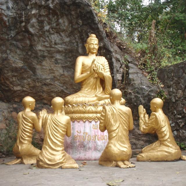"""Buddha Laos"" stock image"
