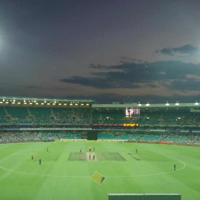 """Sydney Cricket Ground at Night"" stock image"