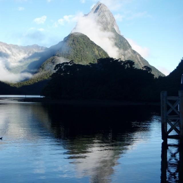 """""""Milford Sound Mountain"""" stock image"""