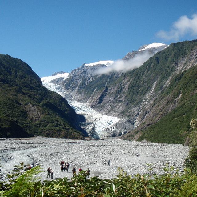 """New Zealand Glacier"" stock image"