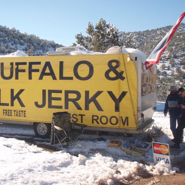 """Buffalo & Elk Jerky"" stock image"