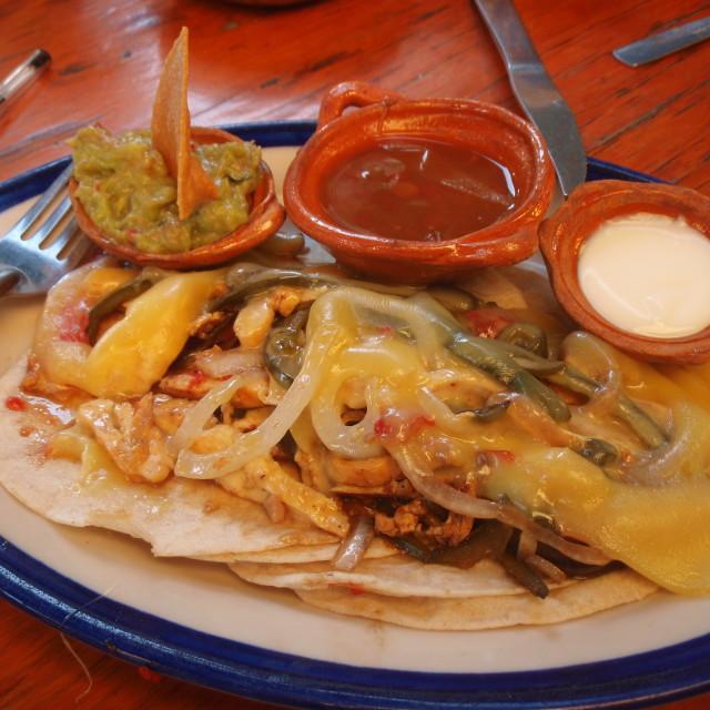 """Mexican Nachos"" stock image"