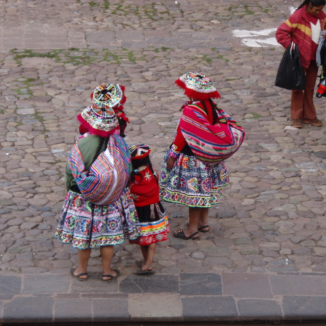 """Peruvian local family"" stock image"