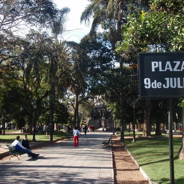 """Plaza 9de Julio"" stock image"