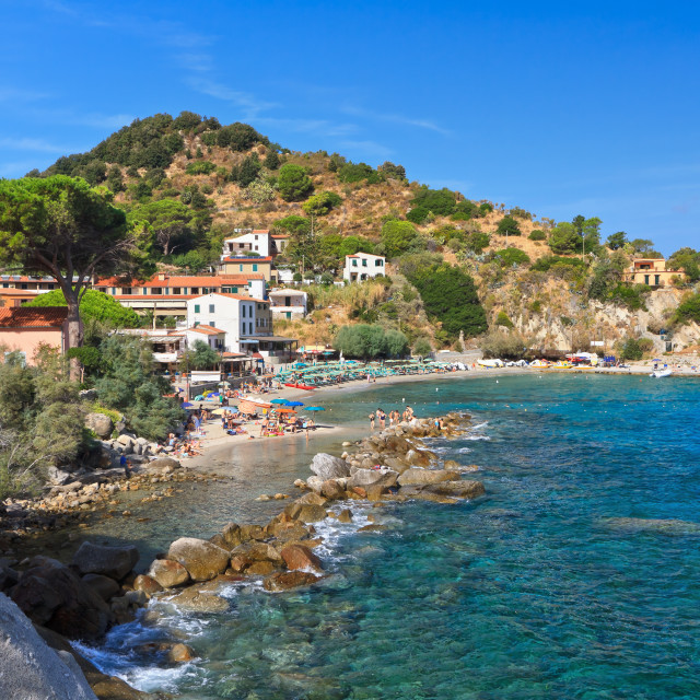 """San Andrea village - Elba island"" stock image"