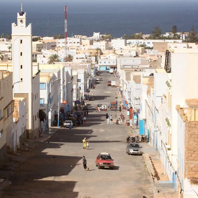 """""""A moroccan street in Sidi Ifni"""" stock image"""