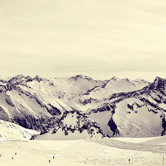 """A Mountain Panorama"" stock image"