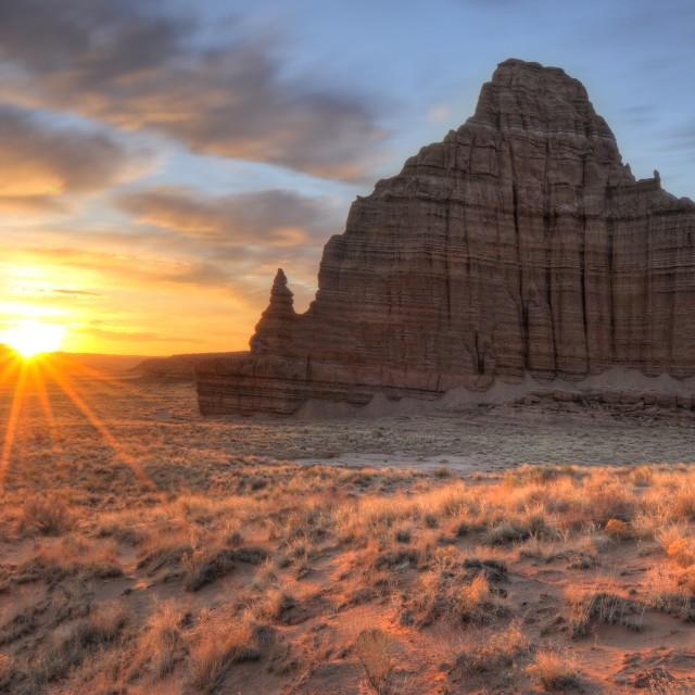 """""""Temple of the Sun Sunrise"""" stock image"""