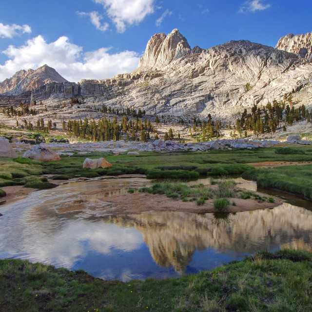 """Reflections in the Miter Basin"" stock image"