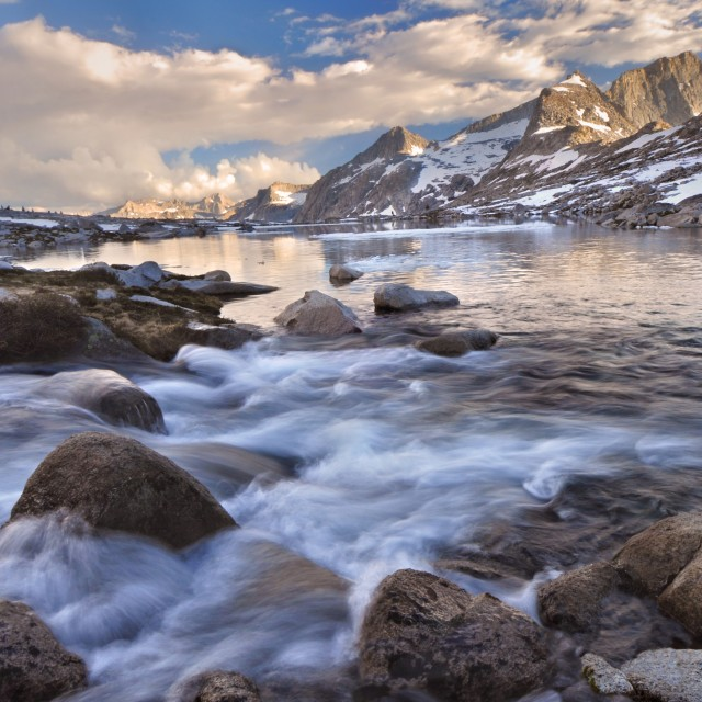 """Nine Lake Drainage and Eagle Scout Peak"" stock image"