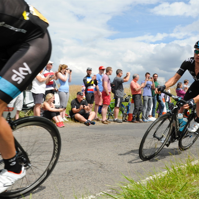 """Team Sky on Le Tour"" stock image"