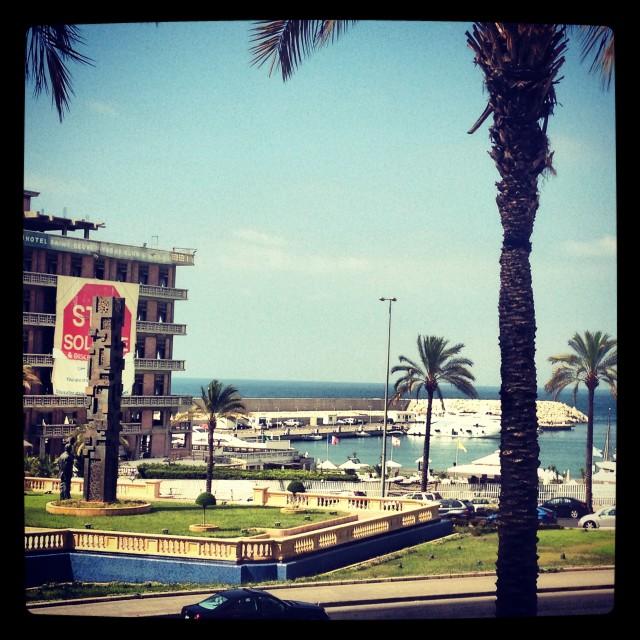 """""""The Corniche, Beirut"""" stock image"""