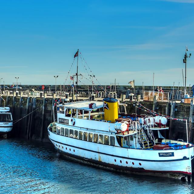 """Scarborough Tourist Boats"" stock image"