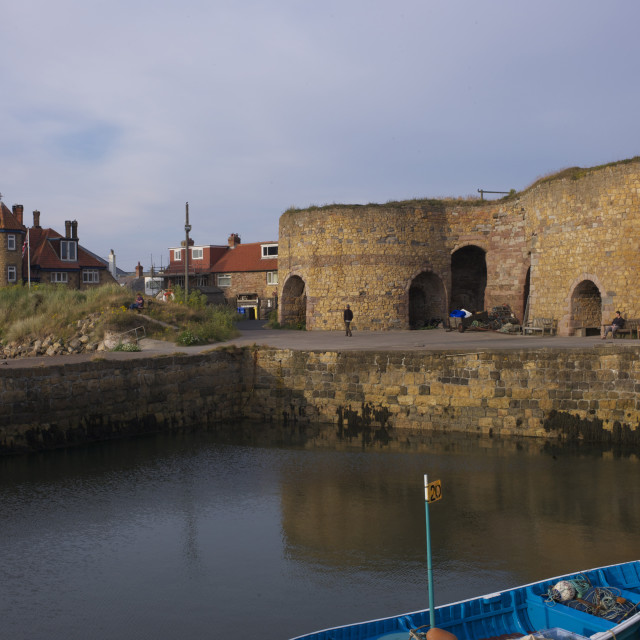 """""""Lime Kilns Beadnell Harbour"""" stock image"""
