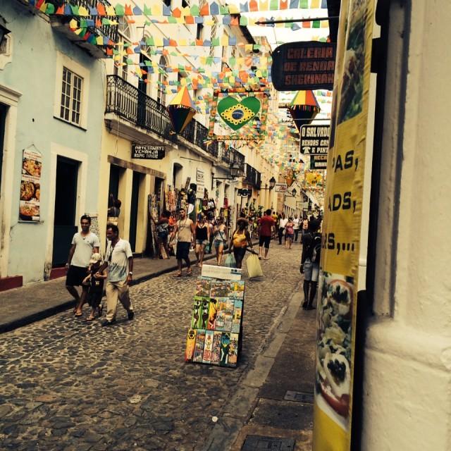 """""""Salvador Street"""" stock image"""