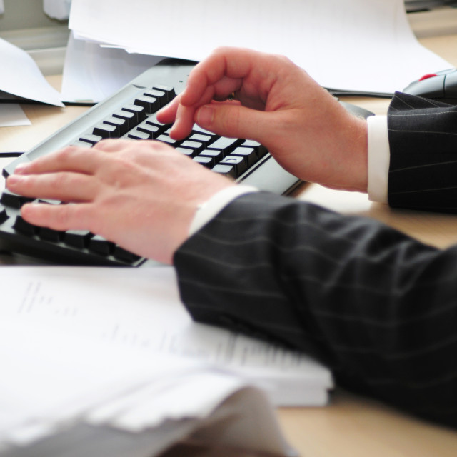 """""""Keyboard and hands"""" stock image"""