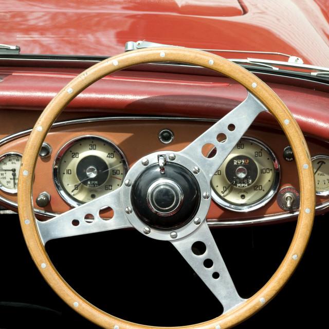 """""""Vintage Steering Wheel"""" stock image"""